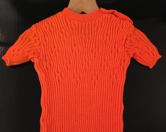1970s Retro Hand knit Baby Suit