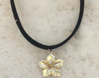 Morning Glory Sterling Silver Necklace/Choker