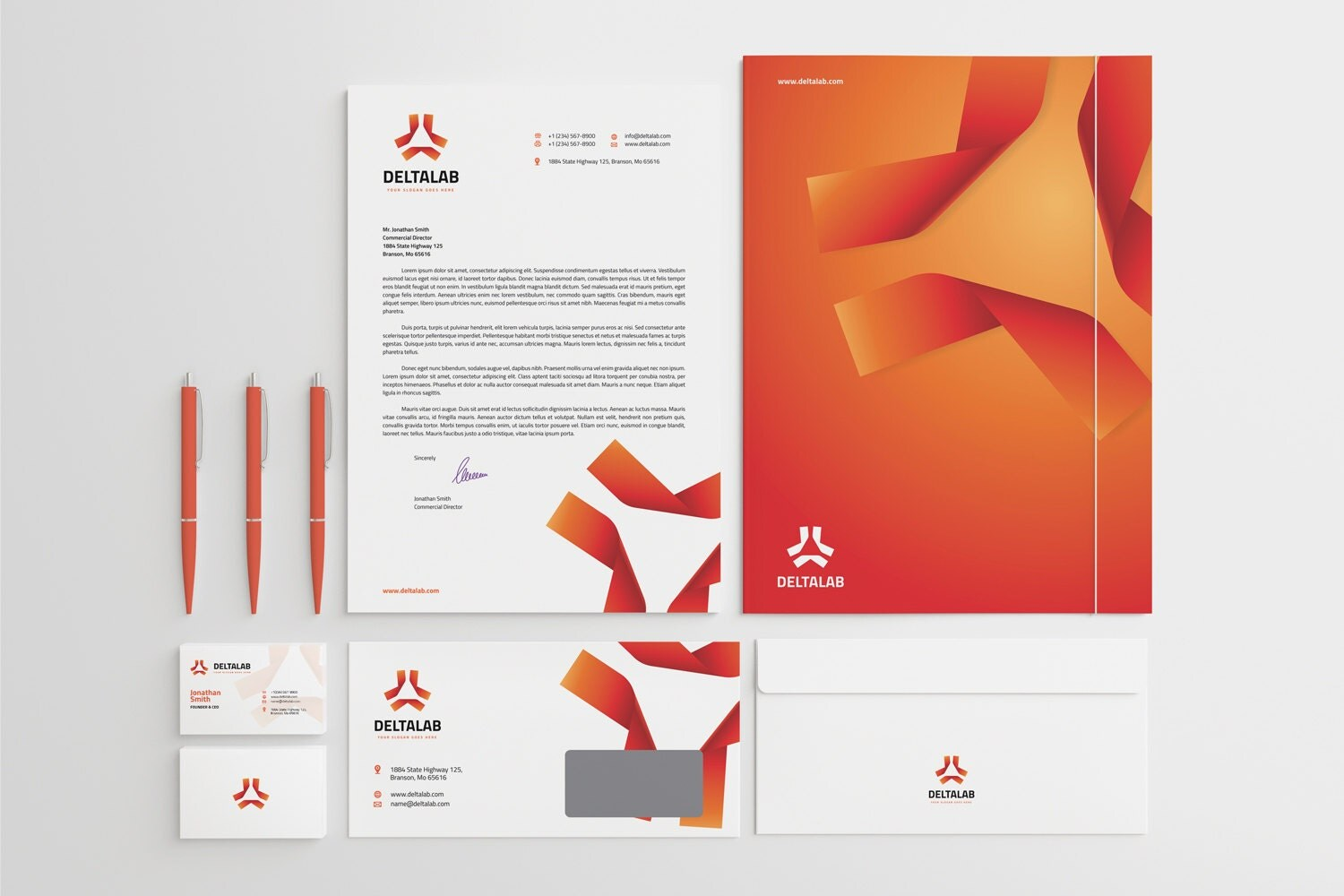 Corporate stationery design template business card zoom magicingreecefo Choice Image