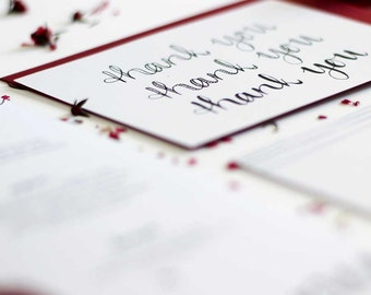 Wedding Thank you card // Just my Type