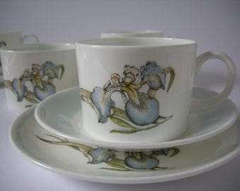 Wedgewood, Susie Cooper Trio, Four Cups, Saucers and Side Plates