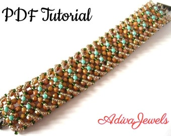 Bracelet Cristals With A Twist - Beading Tutorial  - PDF - Bracelet Tutorial  - Jewelry Tutorials - Bracelet Pattern - Instant Download