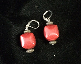 Red and copper earings