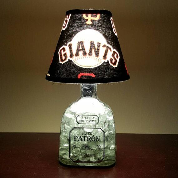 Handmade LED San Francisco Giants vs. Patron Tequila Liquor Bottle Lamp