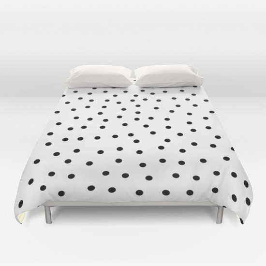 polka dots duvet cover black and white bedding girls bedroom. Black Bedroom Furniture Sets. Home Design Ideas