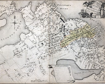1813 Map of Portsmouth New Hampshire
