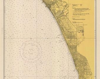1948 Nautical Map of Santa Monica Bay California