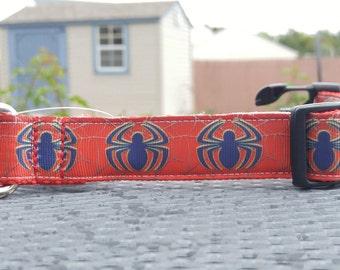 Spiderman inspired dog collar