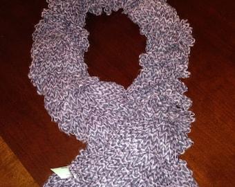 Purple Wavy Scarf