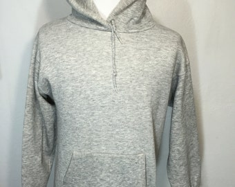 70's vintage heather gray pullover hoodie