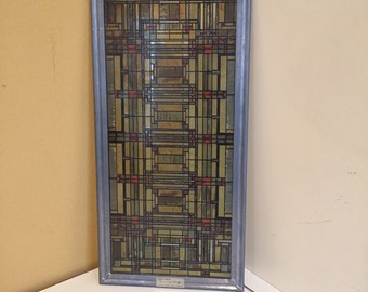 SOLD Frank Lloyd Wright Stained Glass Panel
