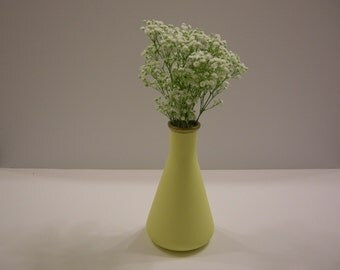 Pale Yellow Bud Vase