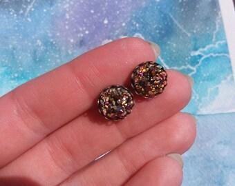 Sugar rainbow faux druzy earrings