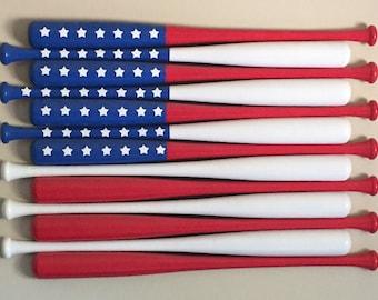 USA Baseball Bat Flag
