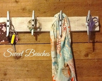 Boat Cleat Coat, Beach Towel,  Hat, Purse You Name it Holder Cleats