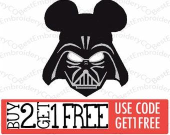 Mickey Darth Vader Embroidery Design