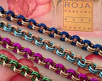 Colour Shots/Chainmail Bracelet/Ladies Fashion/Handmade Jewellery/Designer Jewelry/Chainmaille Jewelry/Pretty/Wedding/Gift/