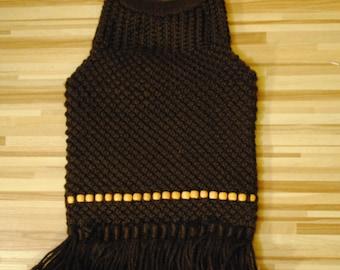 Vintage Knitted brown handbag