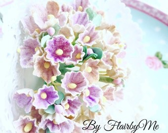 Vintage Forget Me Not Millinery Flowers-Purple, Shabby Chic Flowers/VF0013/Great for Wedding Decor,Card,Shabby Chic Decor,Altered Box,Hat