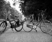 Black and white Photography, Art Photography, City Photography, European, Netherlands, Bikes, Vintage Photography - I Bike, Therefore I AM