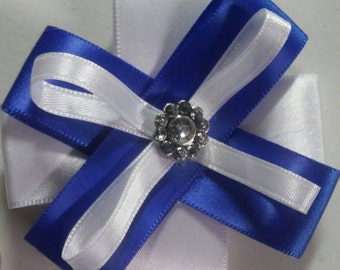 Blue and White Hair Clips by Mimi's Gifts and Boutique