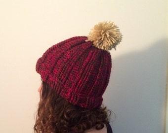 Winter Pom Pom Hat