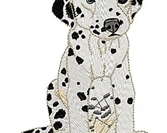 DALMATION PUPPY - Machine Embroidery Design - dog pet