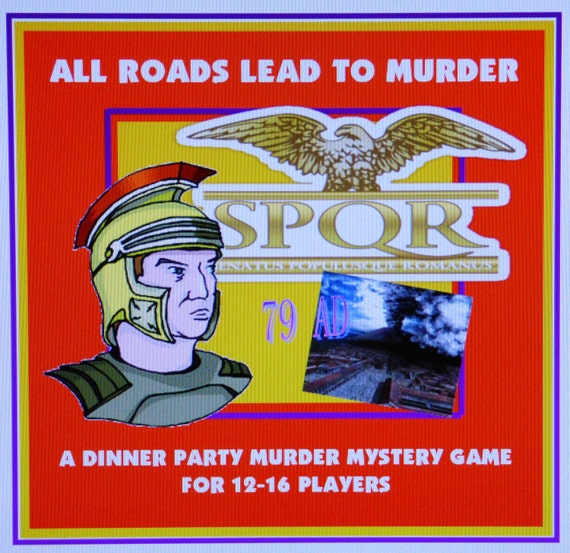 Murder Mystery Dinner Sheet Free: Roman Empire 79AD Murder Mystery Dinner Party Game For 12-16