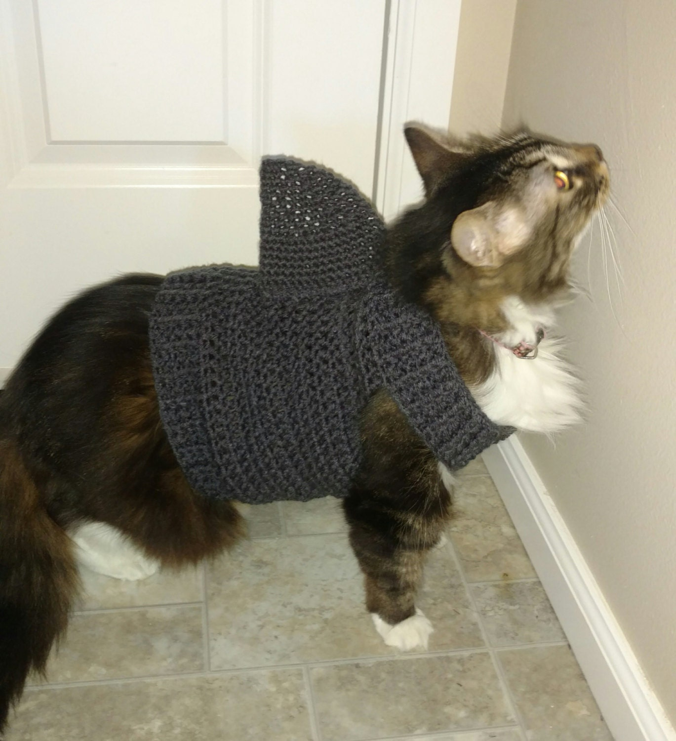 Cat Clothes Cat Sweater Crochet Cat Sweater Cat Costume