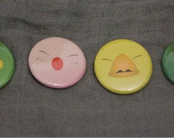 Final Fantasy Tonberry, Moogle, Chocobo, Cactuar Badge Set