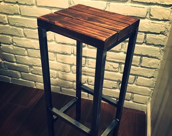 "Handmade 30"" Industrial Bar Stools"