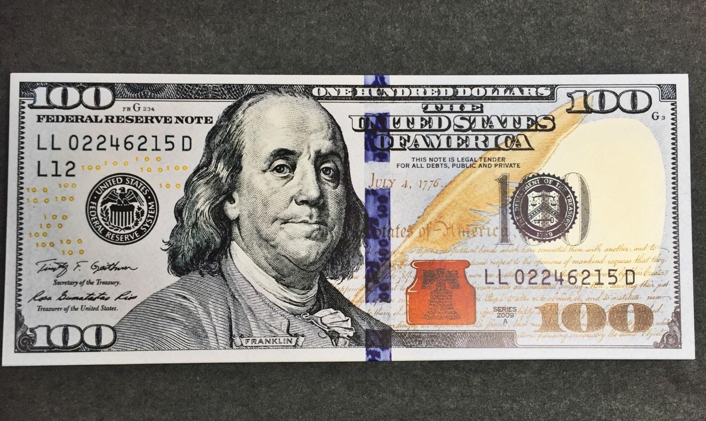 100 Dollar Bill Print Benjamin Franklin Money Canvas Abstract