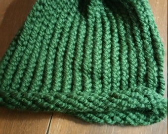 Hunter Green Ribbed Hat
