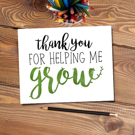 Crafty image intended for thanks for helping me grow printable