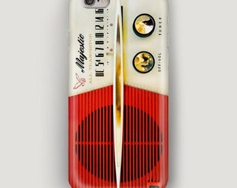 Phone Case Retro Radio, Moble Phone Case, Red iPhone 6 Plus Case, iPhone 6 Case, iPhone 5s Case, iPhone 5c Case, iPhone 4 Case, Retro Style