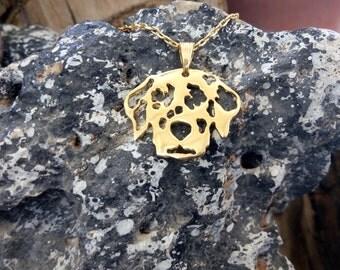 Golden Dalmatian necklace, Dalmatian Necklace, Dalmatian Dog, Dalmatian Necklace, Dogs Necklaces, Dalmatian Pendant, Dalmatian Art