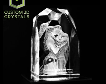 3D Engraved Crystal Gift for Mom