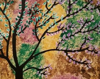 16x20 Tree Abstract Canvas Art