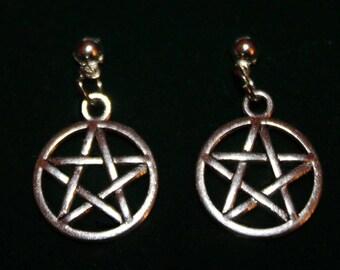 Pentacle drop earrings! *New!*