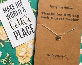 Pretty Little Necklace - Thanks For BEE-ing Such A Great Teacher