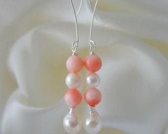 Bambuskorall Baroque Akoya pearl earrings bamboo coral Baroque Akoya pearl earrings