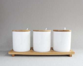 White Ceramic Canister Set of 3