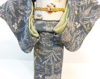 OOAK  outfit SILK  KIMONO for OBITSU27 /  Custom doll 1/6