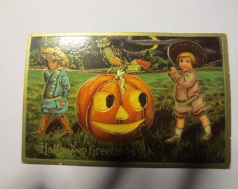 Halloween postcard from 1910