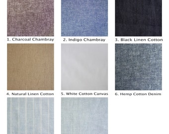 Swatches of Eco Woven Organic Linen Cotton Hemp Woven Fabric with FREE SHIPPING