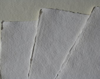 handmade paper watercolor paper 10 sheets / set white or soft vanilla 200 g made from Cotton Linters