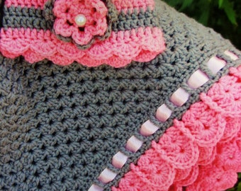 croched baby blanket & hat set