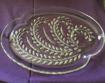 Set of Four Glass Serving Trays