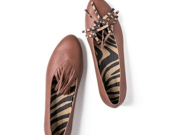 Brown flats, Brown leather shoes, Leather shoes, Women's Shoes, Flat shoes, Brown ballet flats, Brown ballerina shoes, Brown shoes