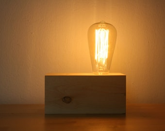 Edison Style Wooden Touch lamp